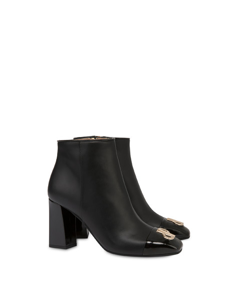 Twin P calfskin ankle boots BLACK/BLACK