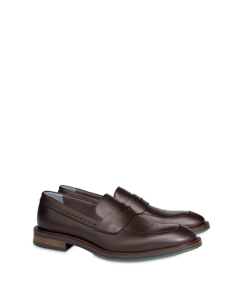 Dandy calfskin moccasins COFFEE