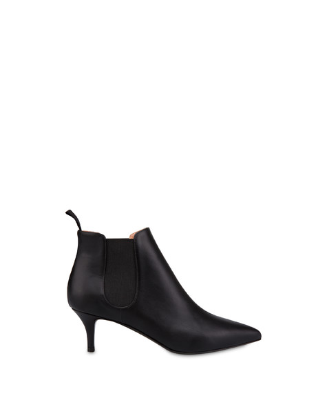 Annabelle calfskin ankle boots BLACK