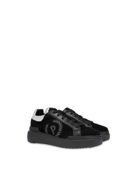 Sneakers in crosta Carrie Nero/nero/argento