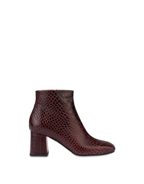 Sloane Square calfskin croc-print ankle boots BURNED