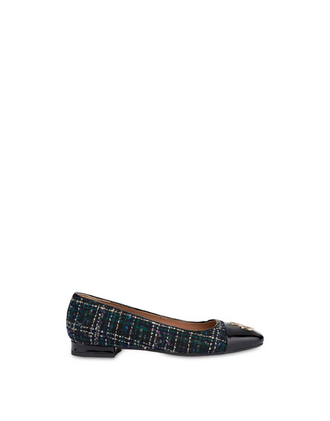 Twin P ballet flats in wool fabric BLACK/BLACK