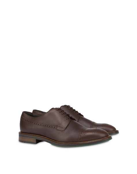 Dandy derby in calfskin COFFEE