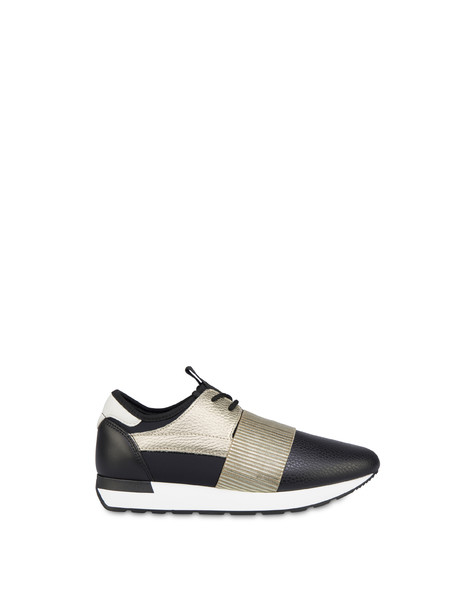 Sneakers slip-on Shiny Elastic Run Nero/platino/nero/nero