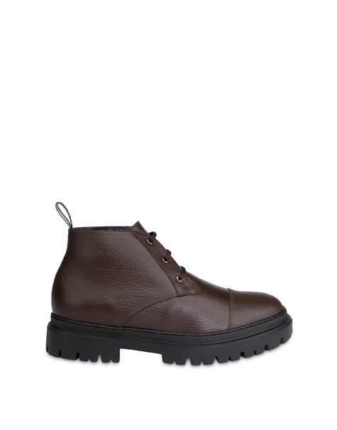 Wellington calfskin moose ankle boots COFFEE