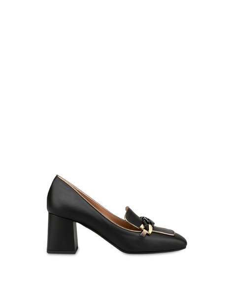 Décolleté in Sunkissed calfskin BLACK/GUN