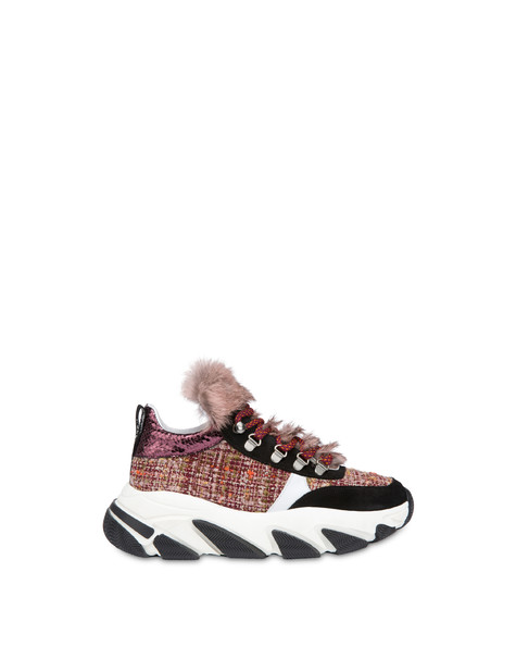 Mountain Walk wool fabric sneakers BRUNELLO/WHITE/BLACK/BRUNELLO/OLD ROSE