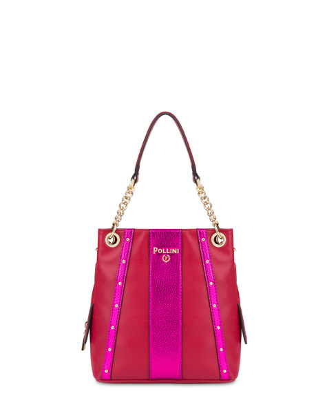 Jenny double handle bag RED/FUCHSIA