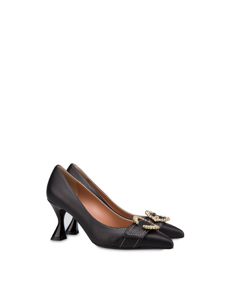 Breakfast At Tiffany's calfskin décolleté BLACK