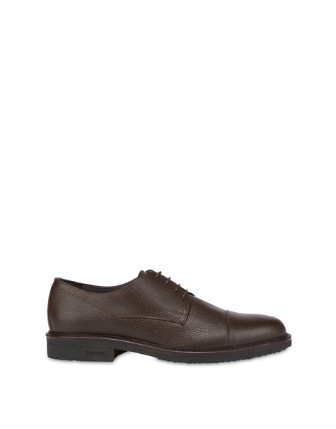 Classic Rubber calfskin derby COFFEE