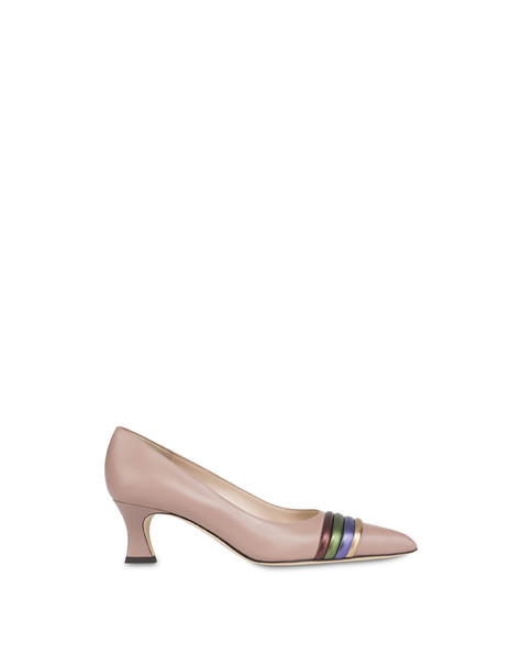 Rainbow calfskin décolleté OLD ROSE/COFFEE/OLIVE/VIOLET/BRONZE
