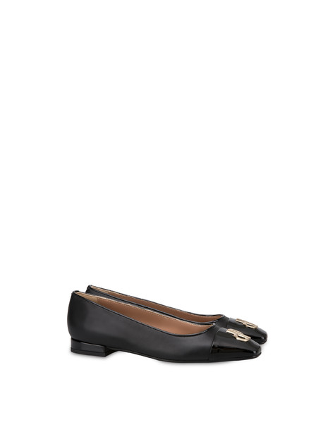 Ballerine in vitello Twin P NERO/NERO