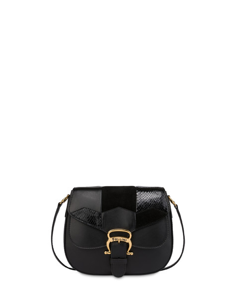 Shoulder bag in Majolica calfskin BLACK/BLACK/BLACK