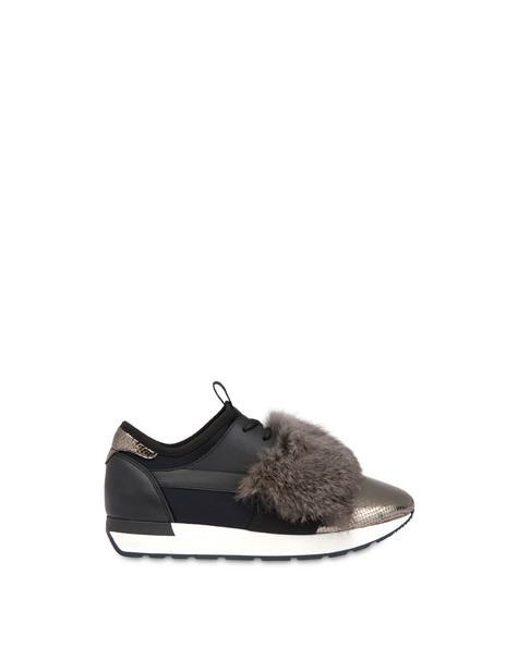 Sneakers slip-on Fur Elastic Run Fucile/nero/nero/nero/nebbia