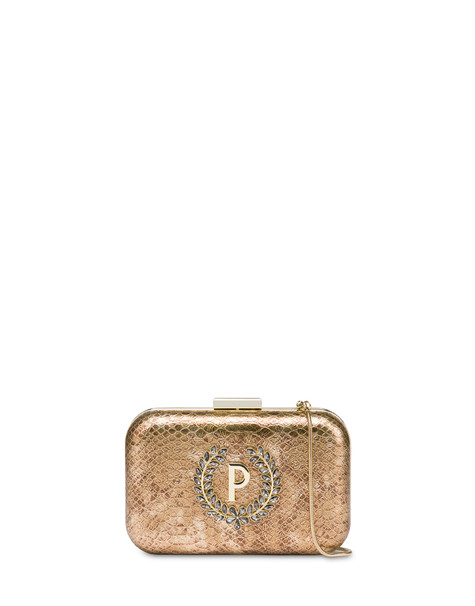 Ice Garden rigid clutch bag GOLD