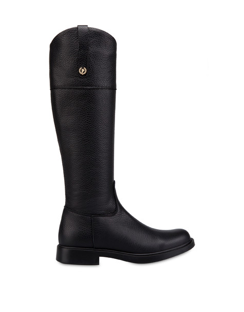 Stivali in vitello Classic Horse Nero