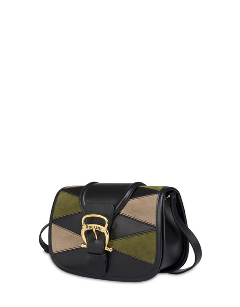 BORSA PICCOLA BLACK/MILITARY GREEN/TAUPE