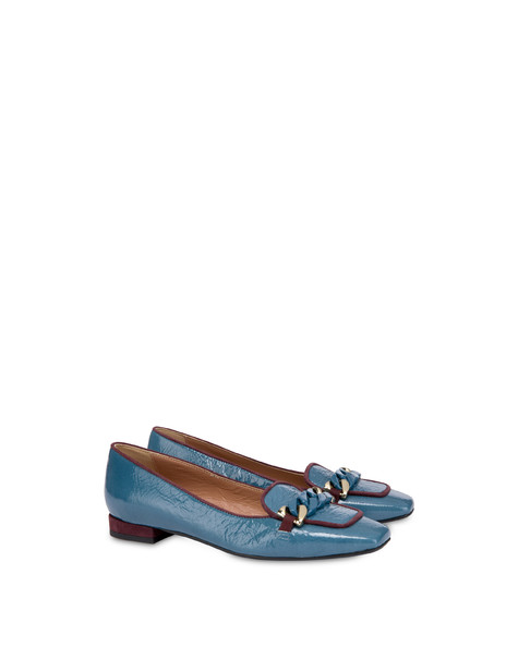 Sunkissed naplak ballet flats LEADEN/BRUNELLO
