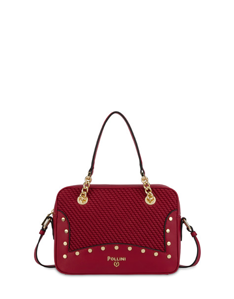 Dolly embossed double handle bag RED/RED