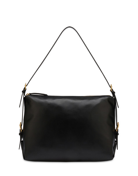 Borsa hobo in vitello Buckle Notes NERO