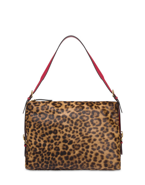 Leopard pony hobo bag SPOTTED/BLACK/RED