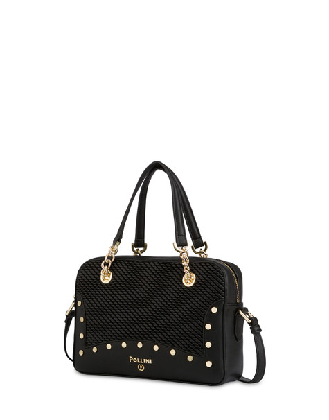 Dolly embossed double handle bag BLACK/BLACK