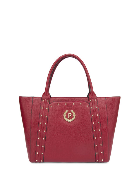 Double handle bag in Odette calfskin RED