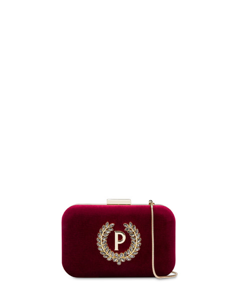 Ice Garden rigid clutch bag BORDEAUX