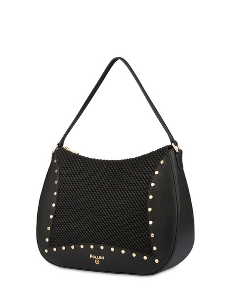 Borsa Hobo goffrata Dolly NERO/NERO