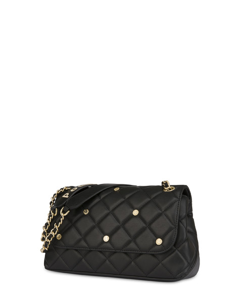 Rock Island matelassè shoulder bag BLACK