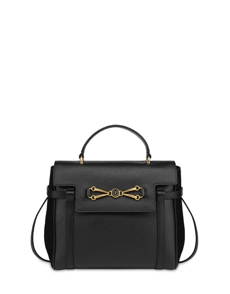 Giulietta Clamp tumbled calfskin handbag BLACK/BLACK/BLACK
