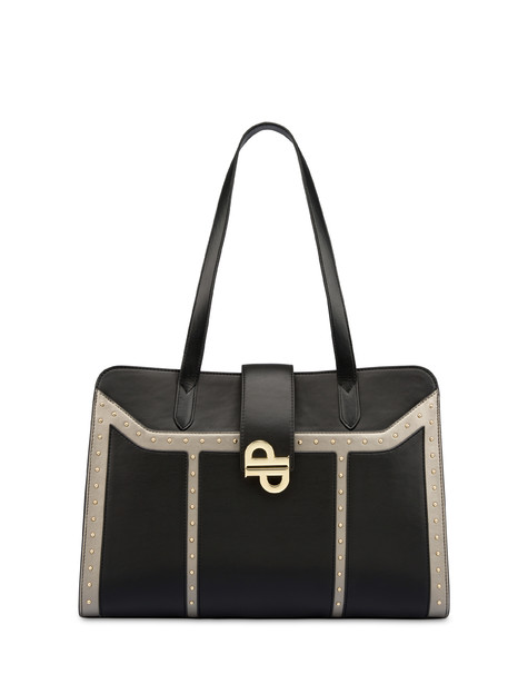 Twin P Bella logo Handbag BLACK/GUN