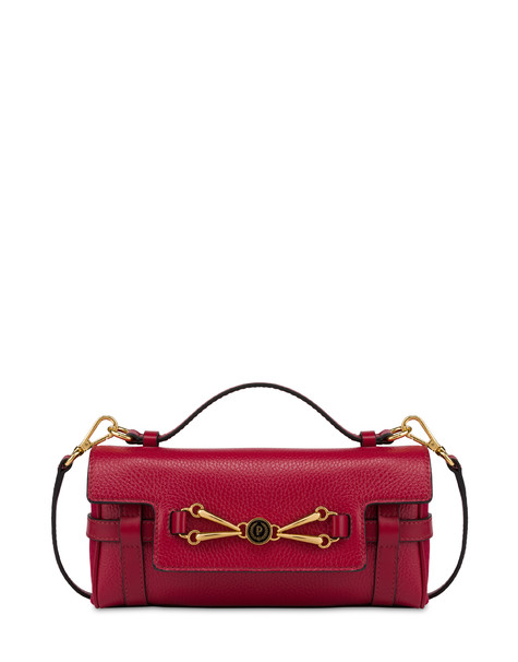Giulietta Clamp tumbled calfskin handbag RED/RED/RED