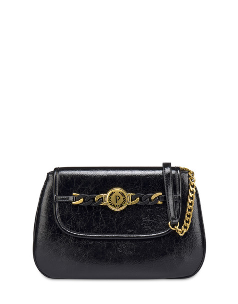 Sunkissed crackle shoulder bag BLACK