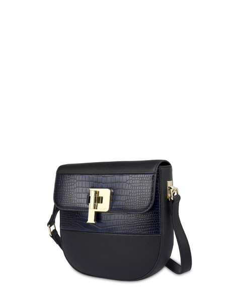BORSA A SPALLA BLACK/BLUE