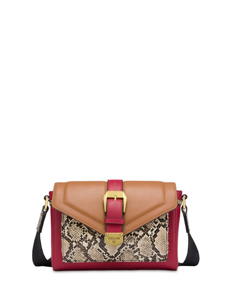 White River mini shoulder bag RED-HIDE/BEIGE