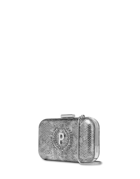 Ice Garden rigid clutch bag SILVER