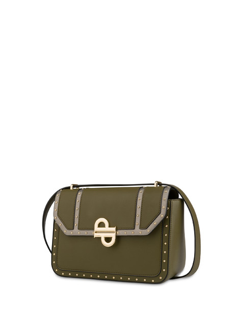 Bella studded shoulder bag OLIVE/GUN