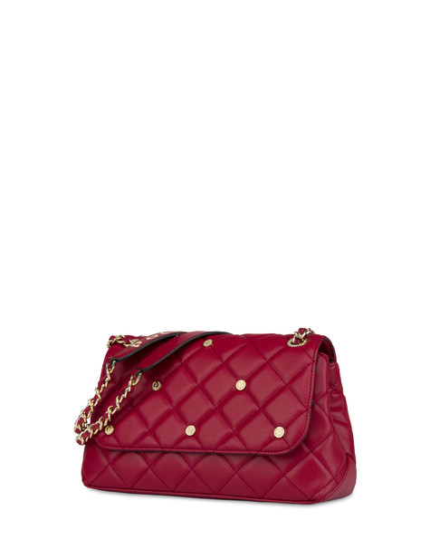 Rock Island matelassè shoulder bag RED