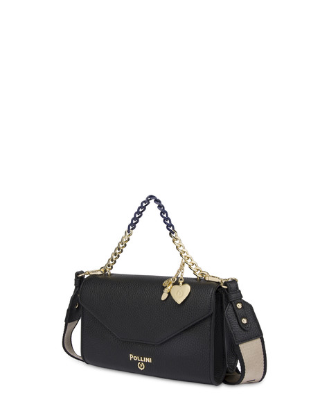 Colorado tumbled calfskin shoulder bag BLACK
