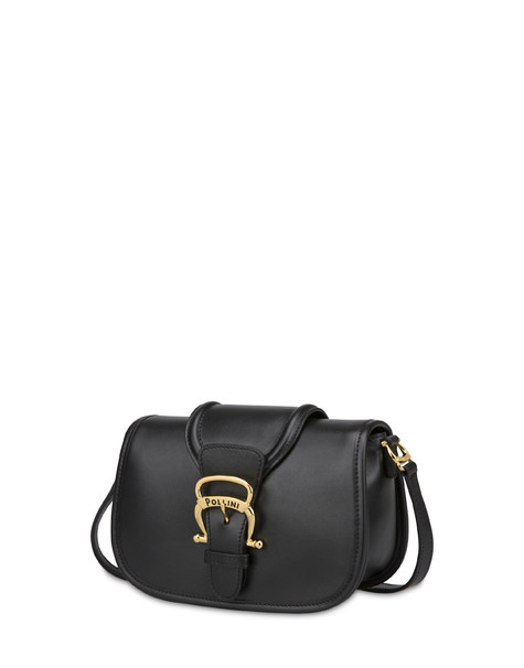 Borsa a tracolla in vitello Cabiria Buckle NERO