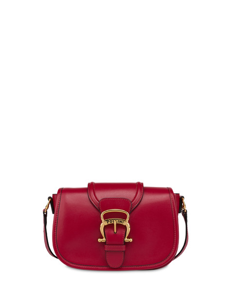 Cabiria Buckle calfskin shoulder bag RED