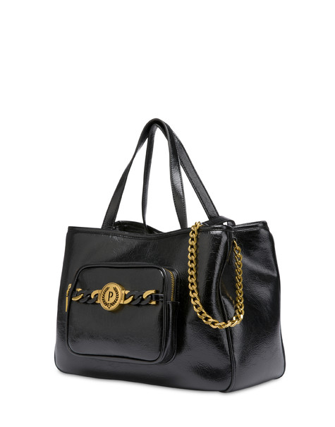 Sunkissed crackle double handle bag BLACK