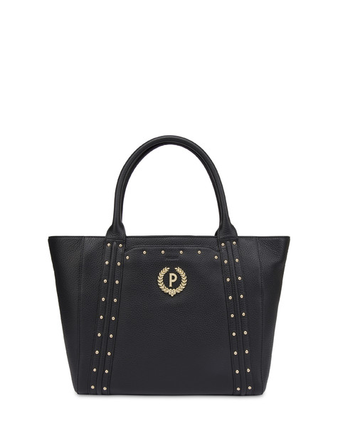 Double handle bag in Odette calfskin BLACK