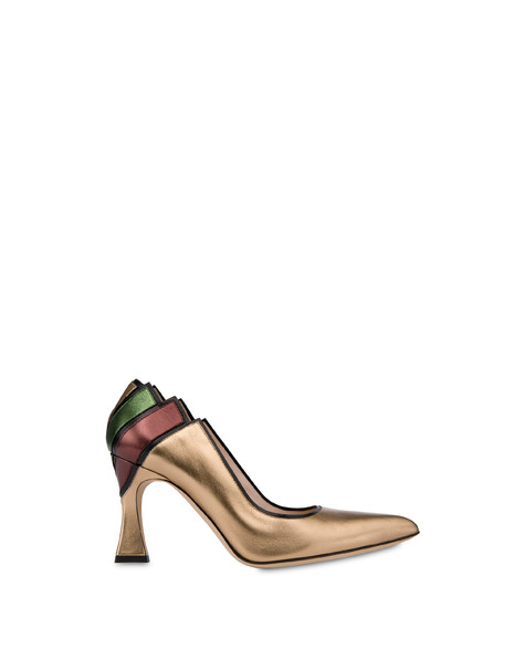 Nataly X Pollini laminated nappa leather décolleté BLACK/BRONZE/COFFEE/OLIVE
