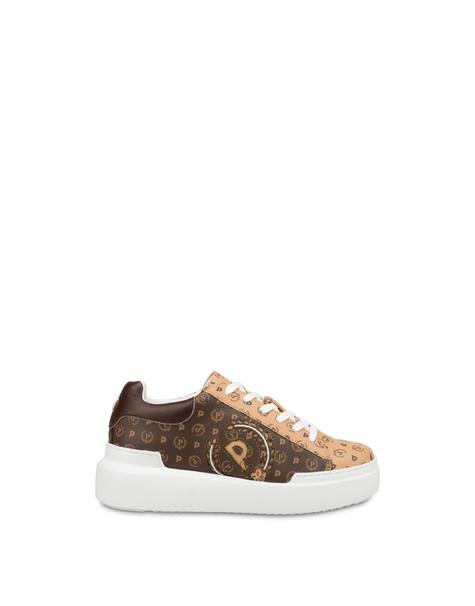 Heritage zweifarbige Sneakers Braun/Sahne/Braun