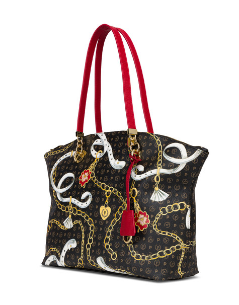 Heritage Preppy Club tote bag BLACK/RED