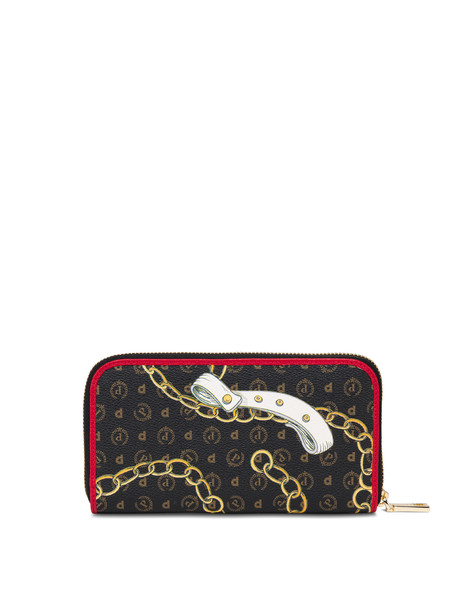 Heritage Preppy Club zip around wallet BLACK/RED