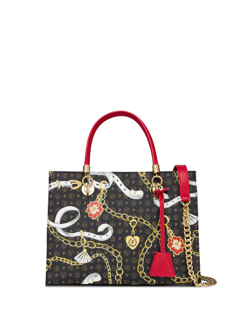 Shopping bag Heritage Preppy Club NERO/ROSSO