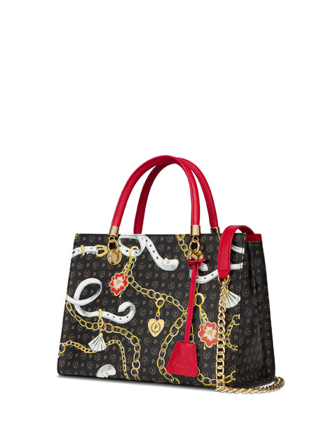 Heritage Preppy Club shopping bag BLACK/RED